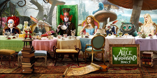 Alice in Wonderland (2010) wallpaper entitled OFFICIAL cinema Poster