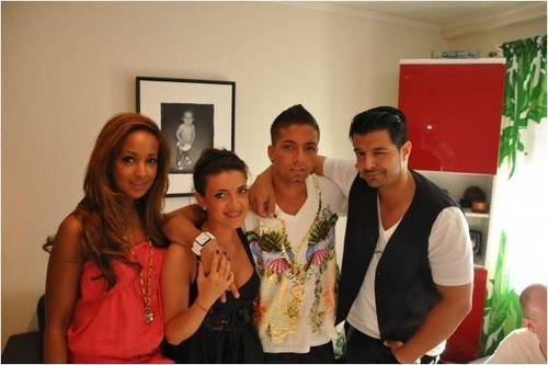 Omer with sister and girlfriend