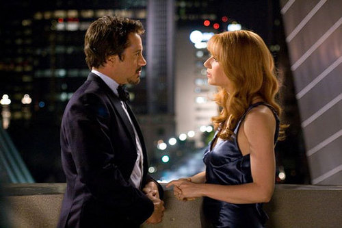 Tony Stark and Pepper Potts wallpaper containing a business suit and a well dressed person entitled Pepper and Tony