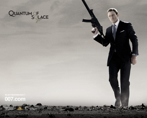 James Bond Hintergrund possibly with a business suit titled Quantum of Solace