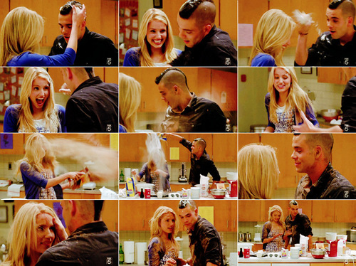 Quinn and Puck baking