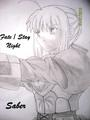Saber - fate-stay-night fan art