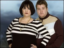 Gavin & Stacey پیپر وال containing a portrait called Smithy and Nessa