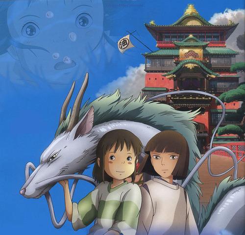 Spirted Away-Haku and Chihiro
