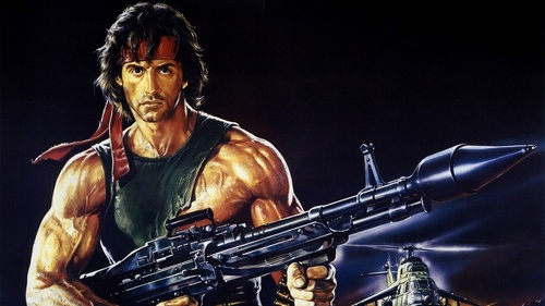 Sylvester Stallone wallpaper with a rifleman called Stallone