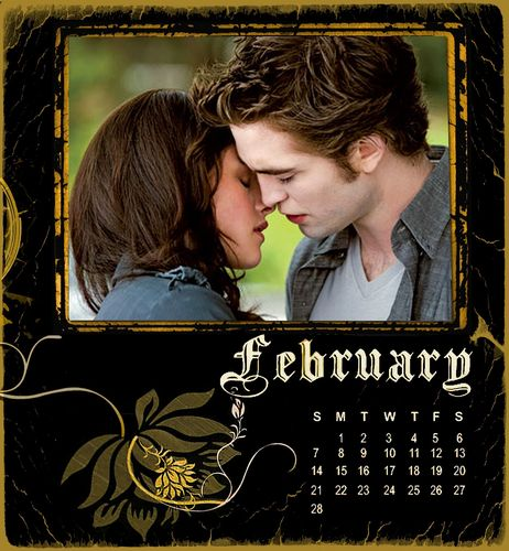 Twilight/NewMoon Calendar 2010-February