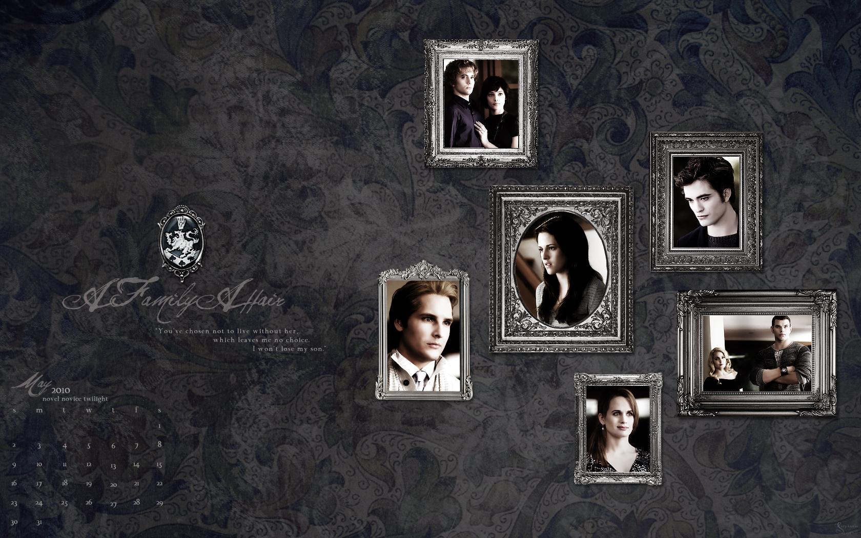 Twilight Saga 2010 Desktop Wallpaper Calendar(from novel noviee twilight)