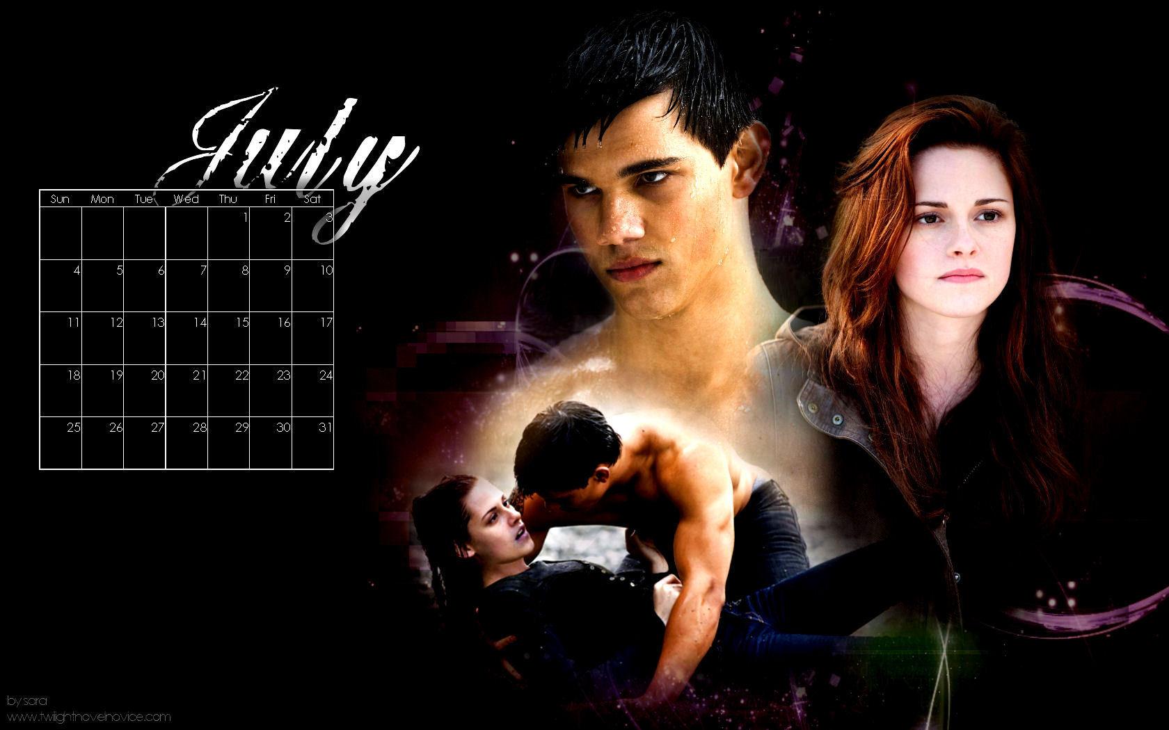 twilight saga 2010 desktop wallpaper calendar from novel