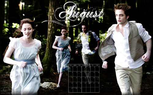 Twilight Saga 2010 Desktop hình nền Calendar(from novel noviee twilight)