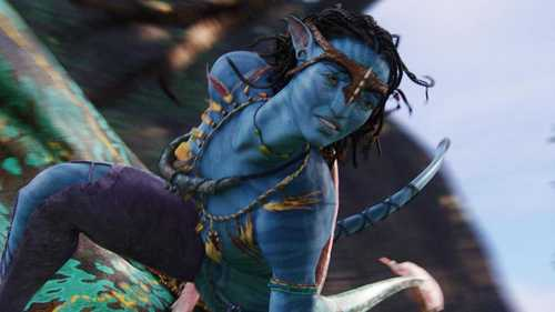 Zoe Saldana as Neytiri in avatar