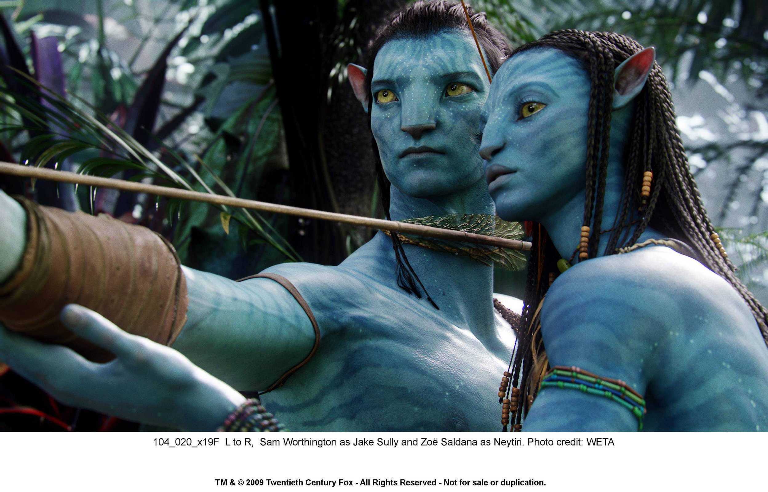 Zoe Saldana as Neytiri in Avatar - Zoe Saldana Photo ...