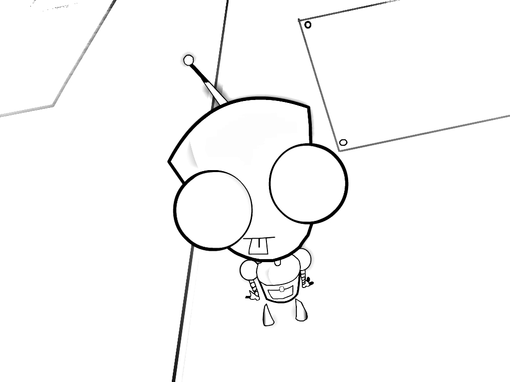 gir and piggy coloring pages - photo#26