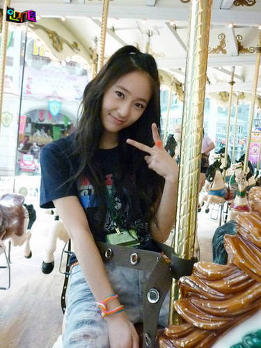 F(x) wallpaper containing a yurt entitled krystal-merry go round