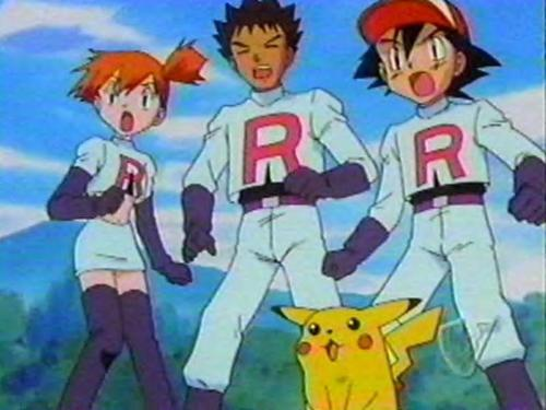 A good cosplay of Team Rocket