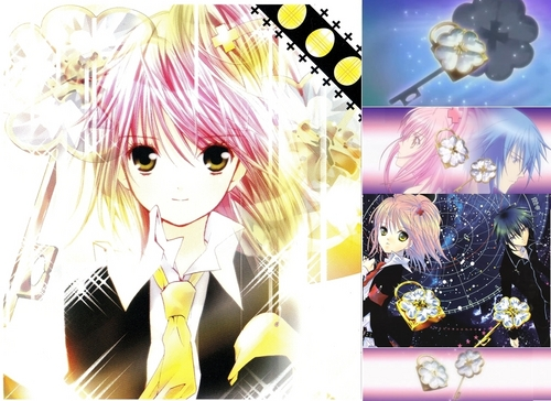 Shugo Chara wallpaper probably containing a hard candy and anime entitled Amu=lock+ Ikuto=key== Amuto!