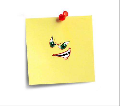 An Evil Post-It Note!! :O