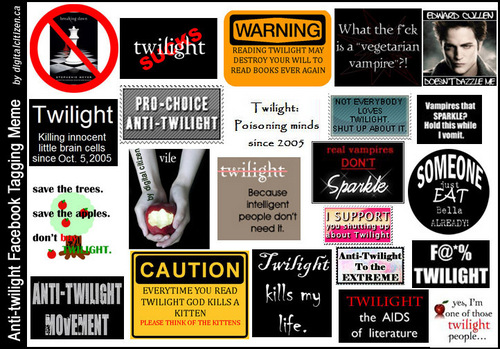 Anti Twilight WARNINGS