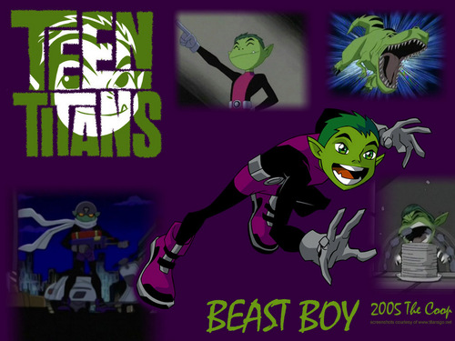 teen titans wallpaper with anime called Beast Boy