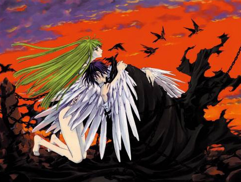 C.C. and Lelouch