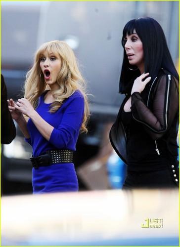 "Christina on Set of ""Burlesque"""
