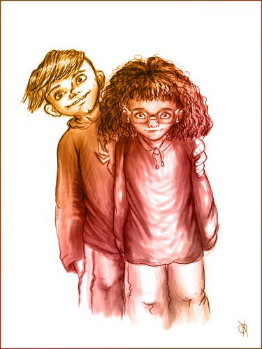Cute Carl and Noelle