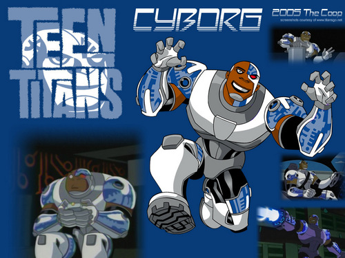 Teen Titans wolpeyper containing anime entitled Cyborg