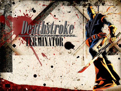 Deathstroke wallpaper probably with a street, a sign, and anime entitled Deathstroke ( Slade )