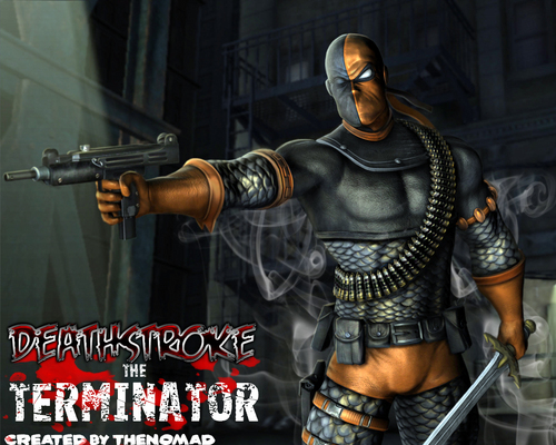 Deathstroke wallpaper containing a breastplate titled Deathstroke ( Slade )