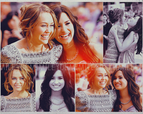 Demi & Miley Wallpaper