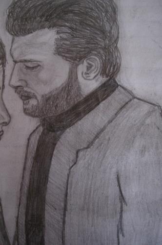 Drawing of Kivanc Tatlitug