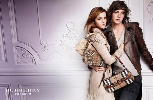 Emma Watson in барберри, burberry Spring/Summer Campaign