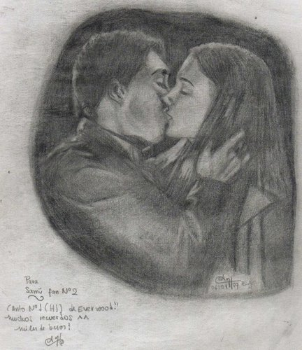 Ephram and Amy Kissing - everwood Fan Art
