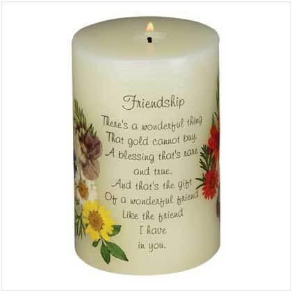 Friendship Candle For Susie !