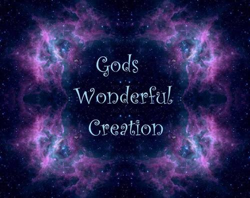 God-The creator fond d'écran possibly containing a sign called Gods Wonderful Creation