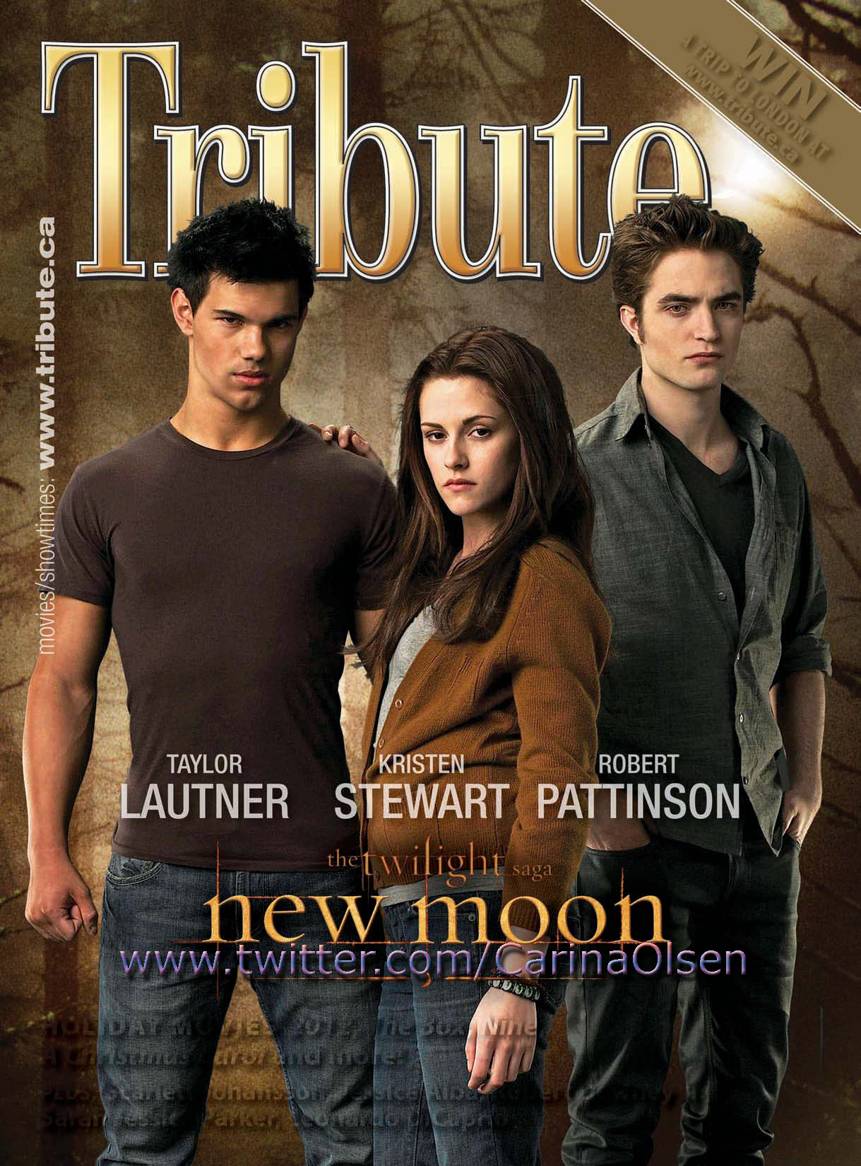 HQ Tribute Magazine Cover With Rob, Kristen and Taylor