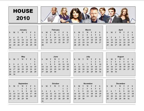 House 2010 Calendar