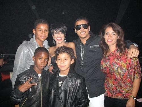Jaafar, Ola Ray, Quincy, Diddy's son, and Jermajesty