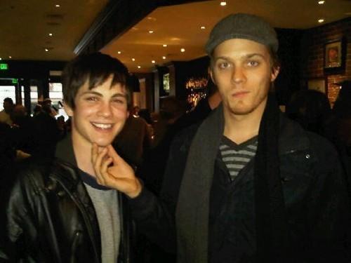 Jake Abel and Logan Lerman