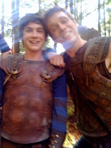 Jake Abel and Logan Lerman Jake Abel And Logan Lerman
