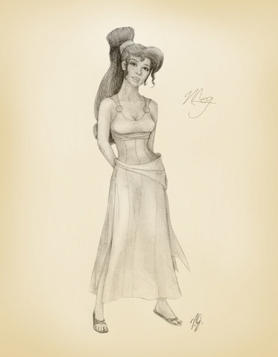 Jennifer 爱情 Hewitt as Megara in Pencil