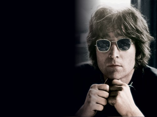 John Lennon wallpaper with sunglasses titled John Lennon