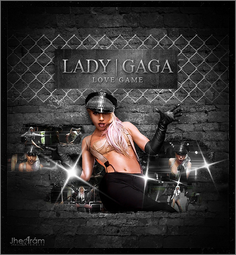 Lady Gaga wallpaper with a chainlink fence titled LG