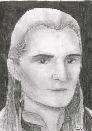 Legolas Portrait in Pencil