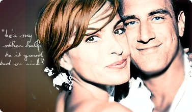 Elliot and Olivia wallpaper containing a portrait titled Mariska and Chris