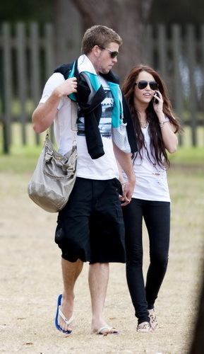 Miley Cyrus Liam Hemsworth January 3, 2010