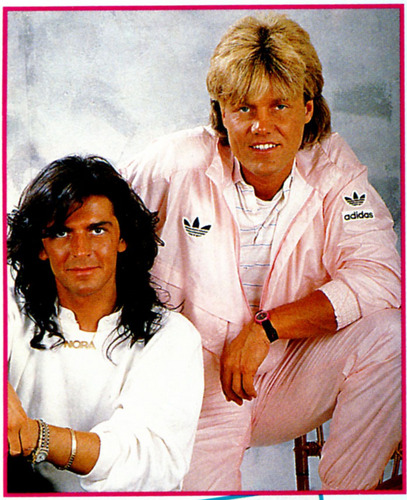 Modern Talking achtergrond possibly containing a portrait called Modern Talking