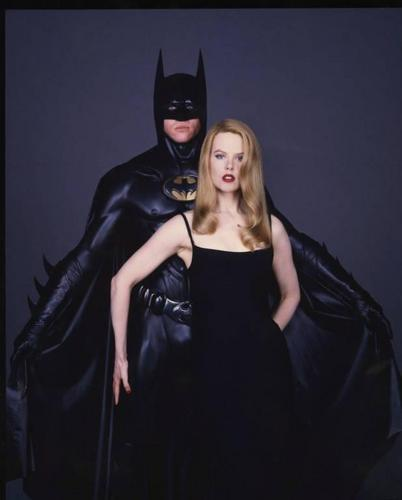 Nicole Kidman پیپر وال probably containing a playsuit, a کاک, کاکٹیل dress, and a hip boot called Nicole - Batman promo shoot