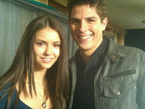 Nina & Sean on set - the-vampire-diaries-tv-show Photo