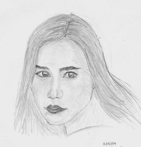 Pencil Sketch of Alison Lohman