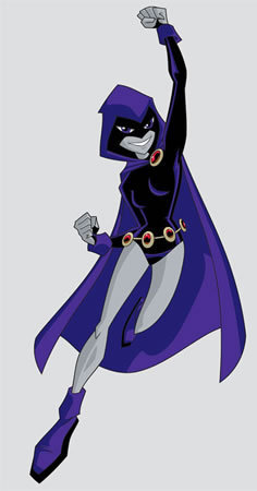 Teen Titans Hintergrund called Raven